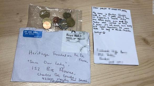Xúc động thư bé gái Anh kèm 3,38 euro quyên góp cho Nhà thờ Đức Bà Paris - Ảnh 1.