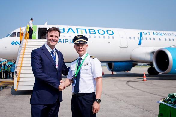 Bamboo Airways đón chuyến bay quốc tế đầu tiên từ Hàn Quốc - Ảnh 1.