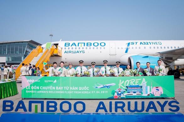 Bamboo Airways đón chuyến bay quốc tế đầu tiên từ Hàn Quốc - Ảnh 4.