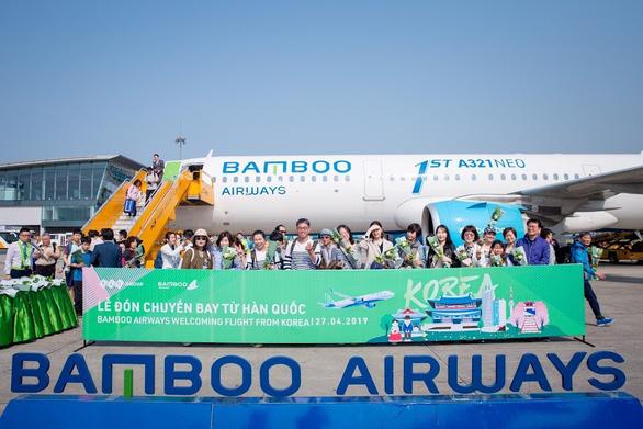 Bamboo Airways đón chuyến bay quốc tế đầu tiên từ Hàn Quốc - Ảnh 9.