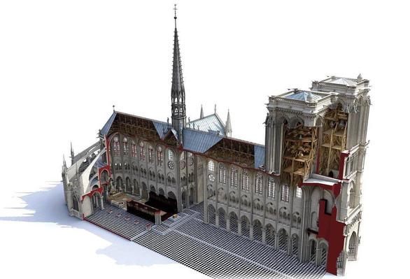 Phép lạ nhỏ giúp phục dựng nhà thờ Đức Bà Paris như nguyên bản - Ảnh 1.