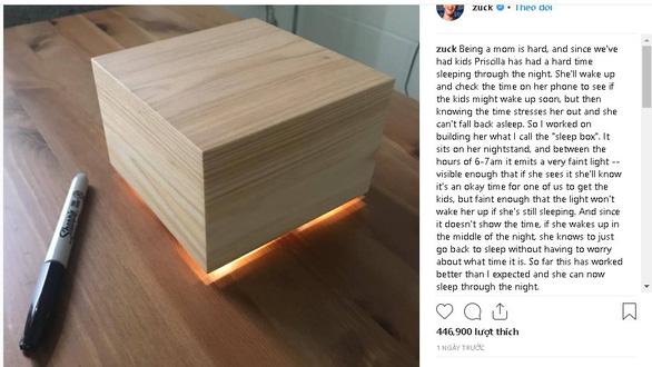 Ông chủ Facebook phát minh hộp ngủ giúp vợ ngủ ngon hơn - Ảnh 1.