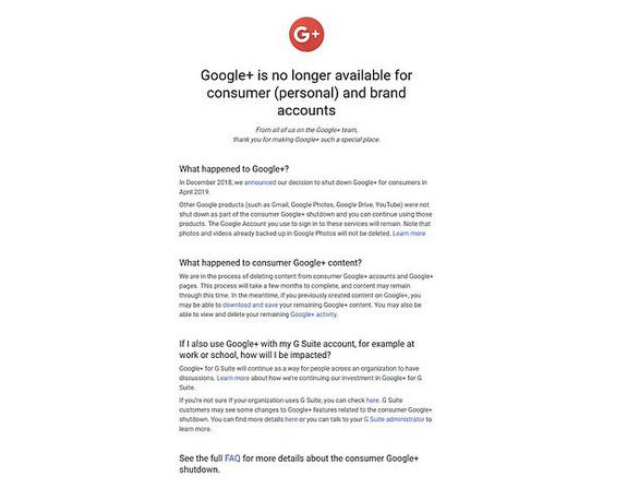 Google+ bị khai tử - Ảnh 1.