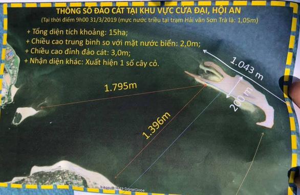 Đau đầu với đảo cát biển Cửa Đại phình 15 hecta - Ảnh 2.