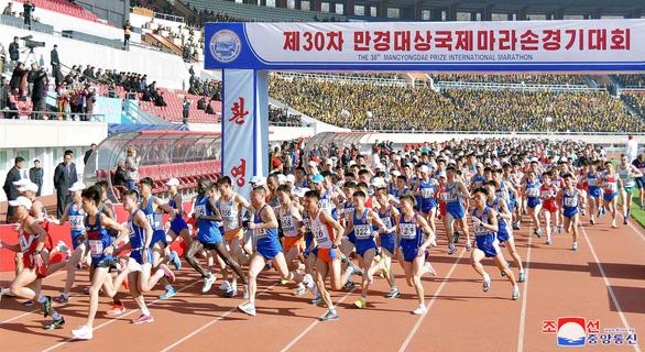Du khách đổ về Bình Nhưỡng nhờ giải marathon - Ảnh 1.