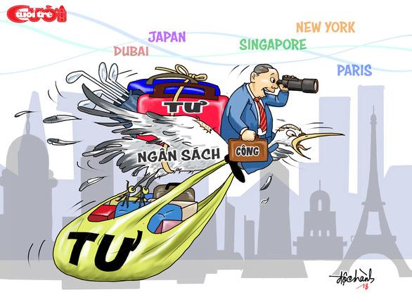 Biếm họa: Đi du lịch bằng ngân sách - Ảnh 1.