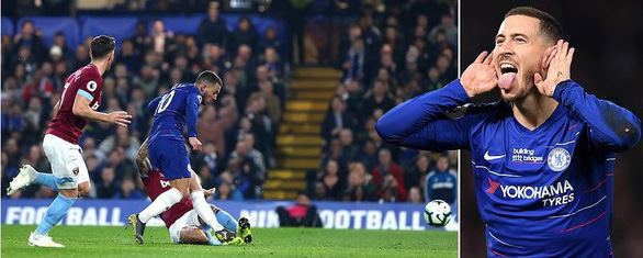 Hazard lóe sáng giúp Chelsea vươn lên hạng 3 - Ảnh 1.