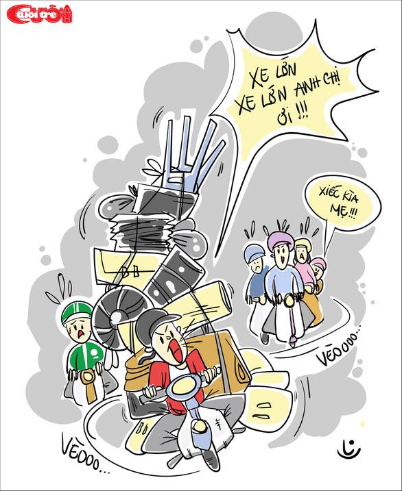 Văn hóa giao thông qua tranh biếm họa - Ảnh 6.