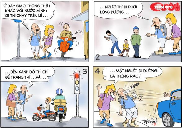 Văn hóa giao thông qua tranh biếm họa - Ảnh 9.