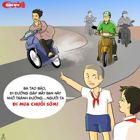Văn hóa giao thông qua tranh biếm họa - Ảnh 13.