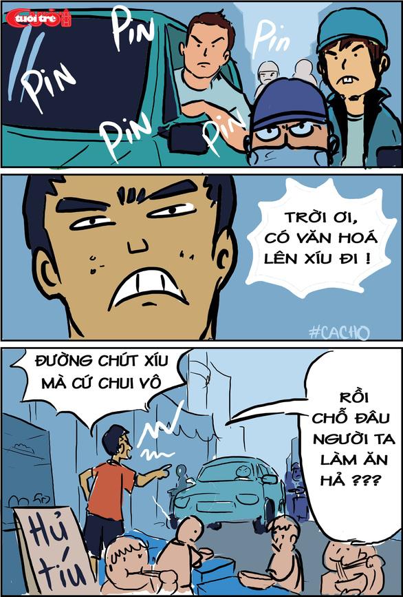 Văn hóa giao thông qua tranh biếm họa - Ảnh 1.