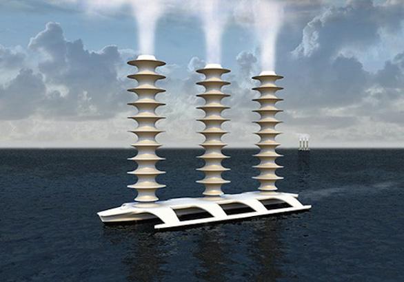 Phun nước biển tạo mây giữ băng hai cực - Ảnh 1.