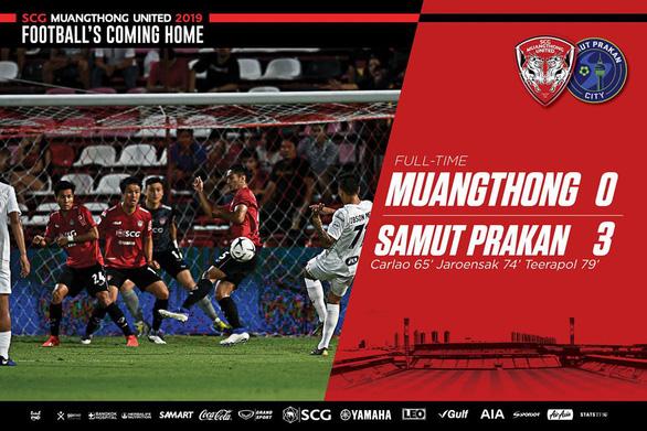 Văn Lâm cản phá xuất sắc 6 lần không đủ giúp Muangthong khỏi thảm bại 0-3 - Ảnh 1.