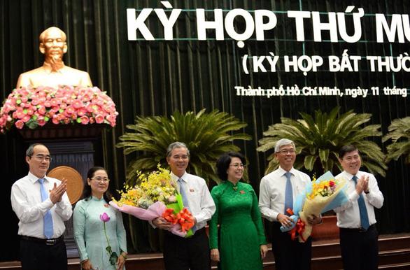Ông Võ Văn Hoan và ông Ngô Minh Châu làm phó chủ tịch UBND TP.HCM - Ảnh 1.