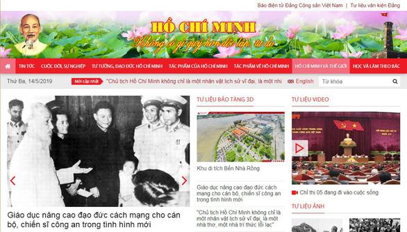 Ra mắt giao diện mới Trang thông tin điện tử Hồ Chí Minh - Ảnh 1.