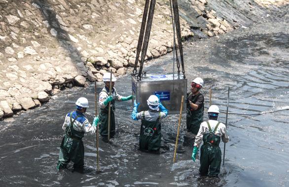 Làm sạch sông Tô Lịch bằng công nghệ Nhật Bản - Ảnh 1.