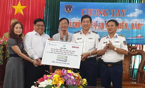 Tặng Cảnh sát biển Vùng 3 máy phát điện trị giá hơn 700 triệu đồng - Ảnh 1.