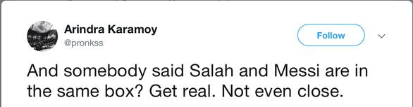 Cộng đồng mạng tung hô Messi, dìm hàng Salah - Ảnh 3.