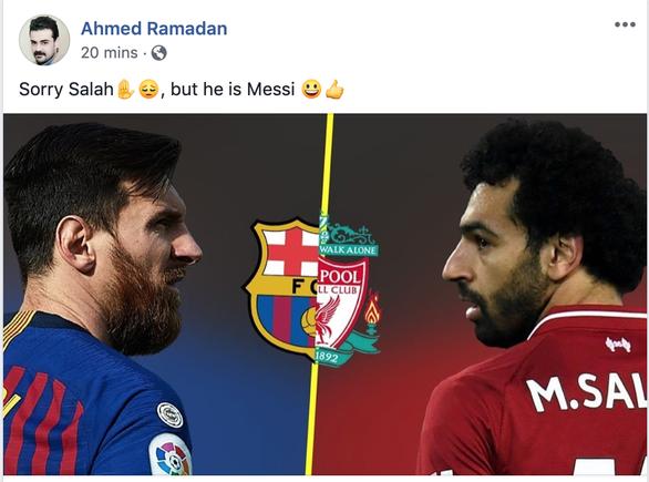 Cộng đồng mạng tung hô Messi, dìm hàng Salah - Ảnh 2.