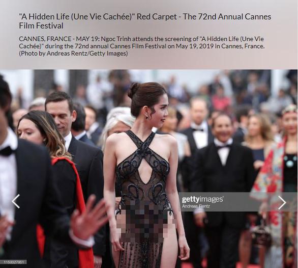 Ngọc Trinh bị truyền thông nước ngoài chỉ trích lố lăng tại Cannes - Ảnh 1.