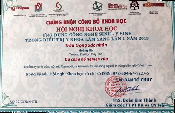 Nhà khoa học ĐH Duy Tân giành giải nhì về điều trị y khoa lâm sàng - Ảnh 4.