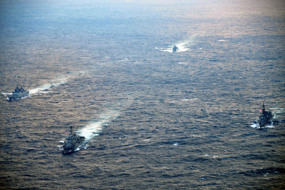 Mỹ kéo đồng minh tập trận chung ở Tây Thái Bình Dương - Ảnh 1.