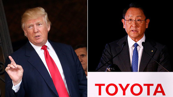Ông Trump ghẹo chủ tịch Toyota chẳng ra dáng ông chủ - Ảnh 1.
