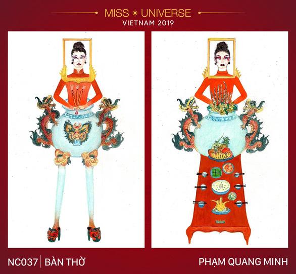 Thiết kế Bàn thờ cho quốc phục của Việt Nam tại Miss Universe 2019? - Ảnh 1.