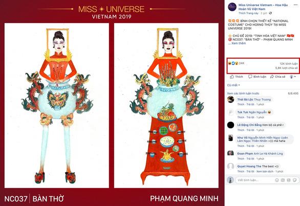 Thiết kế Bàn thờ cho quốc phục của Việt Nam tại Miss Universe 2019? - Ảnh 2.