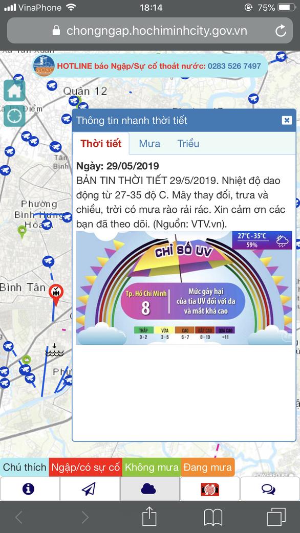 Sẽ có app cảnh báo ngập nước trên địa bàn TP.HCM - Ảnh 1.