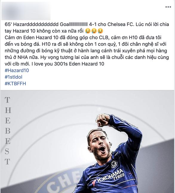 CĐV Chelsea nói lời cám ơn và chia tay Hazard - Ảnh 3.