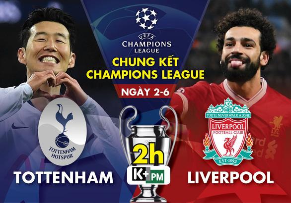 Xem trực tiếp chung kết Champions League Tottenham vs Liverpool ở đâu?