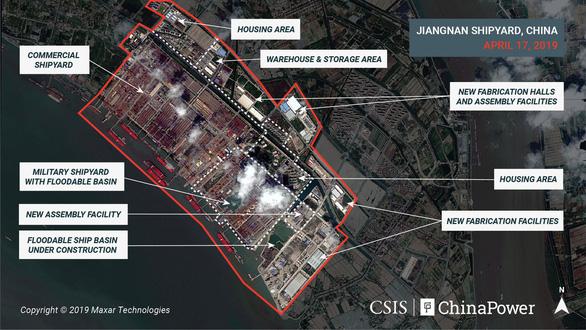 Hình ảnh vệ tinh về tàu sân bay 'khủng' nhất của Trung Quốc - Ảnh 2.
