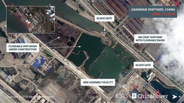 Hình ảnh vệ tinh về tàu sân bay 'khủng' nhất của Trung Quốc - Ảnh 3.