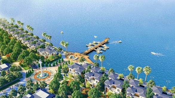 Phố thương mại trung tâm TP Hà Tiên hút khách với giá từ 12,8 triệu/m2 - Ảnh 1.
