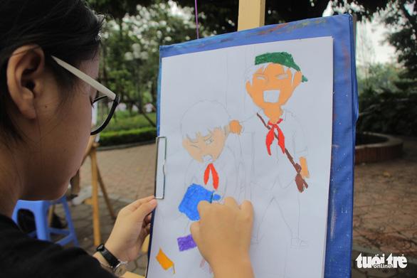 Trẻ em gửi thông điệp chống xâm hại, chống bạo lực qua tranh vẽ - Ảnh 7.