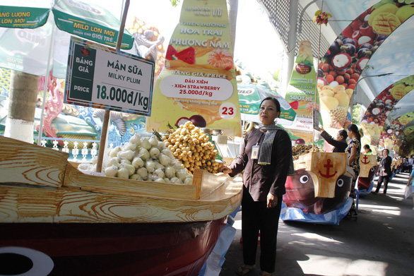 Ngắm bí ngô khổng lồ 100kg, dừa khủng 15kg... tại Suối Tiên - Ảnh 9.