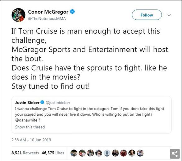 Justin Bieber thách Tom Cruise đấu võ tự do - Ảnh 3.