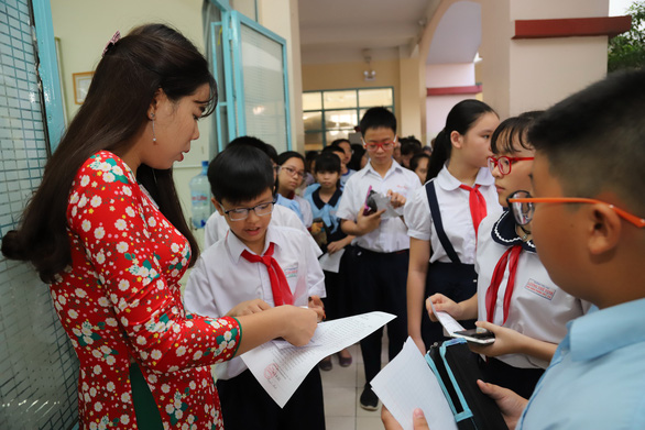 4.200 học sinh TP.HCM đua vào lớp 6 chuyên Trần Đại Nghĩa - Ảnh 8.