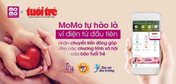 Mời bạn đọc Chung tay cùng Tuổi Trẻ trên ví điện tử MoMo - Ảnh 2.