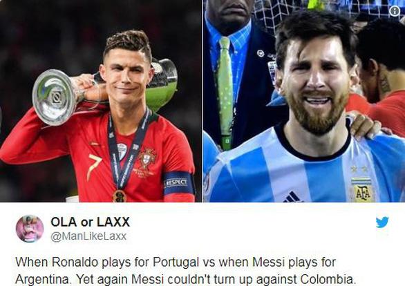 Dân mạng chế hình ảnh Messi viết thư cầu cứu Ronaldo - Ảnh 3.