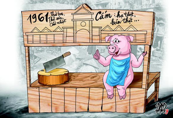 Có thời kỳ thịt heo bị cấm bán - Ảnh 1.