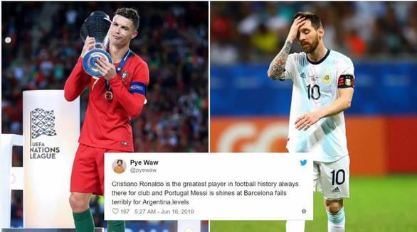 Dân mạng chế hình ảnh Messi viết thư cầu cứu Ronaldo - Ảnh 2.