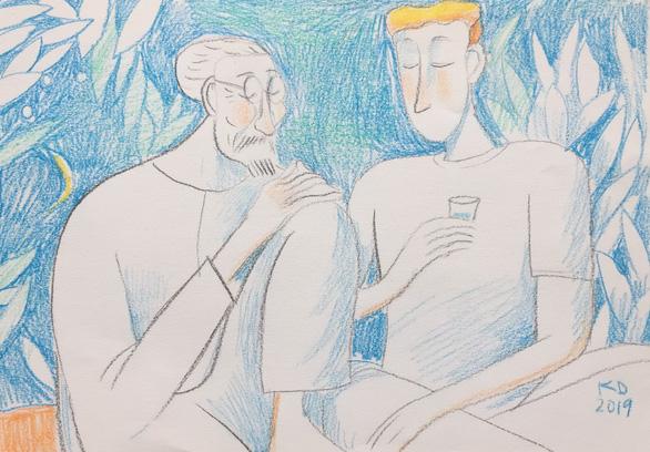Truyện ngắn: Thằng Mít tóc vàng mắt xanh - Ảnh 1.