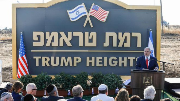 Israel công bố khu tái định cư mang tên ông Trump ở cao nguyên Golan - Ảnh 1.