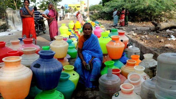 Thành phố lớn thứ 6 Ấn Độ cạn nước, nguy cơ bị xóa sổ - Ảnh 1.