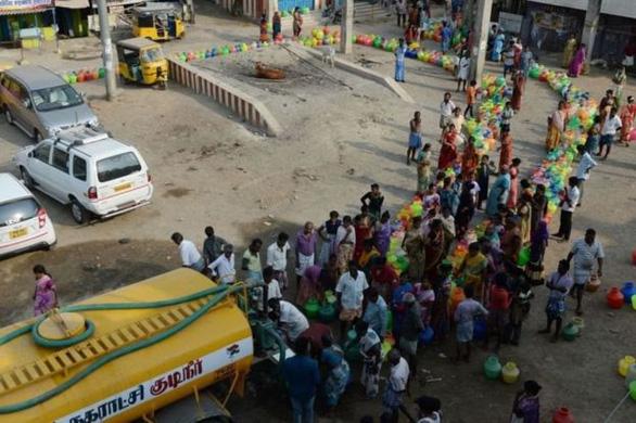 Thành phố lớn thứ 6 Ấn Độ cạn nước, nguy cơ bị xóa sổ - Ảnh 2.