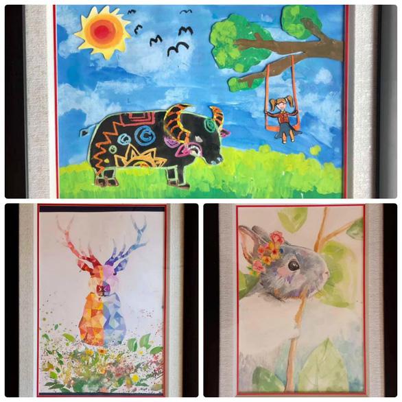Họa sĩ 13 tuổi triển lãm tranh gây quỹ cho các bạn kém may mắn - Ảnh 3.