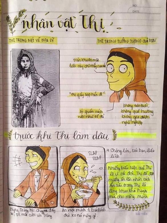 Vẽ tranh nhân vật văn học ôn thi, cô nữ sinh nhận ngàn like - Ảnh 3.