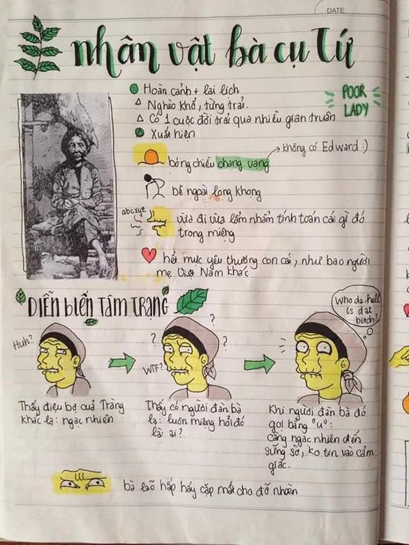 Vẽ tranh nhân vật văn học ôn thi, cô nữ sinh nhận ngàn like - Ảnh 6.